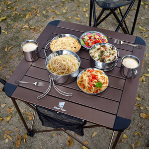 GeerTop Ultralight Stainless Steel Camping Cookware