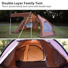 Load image into Gallery viewer, GeerTop Large Family Camping Tent for  6 Person