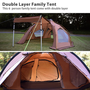 GeerTop Large Family Camping Tent for  6 Person