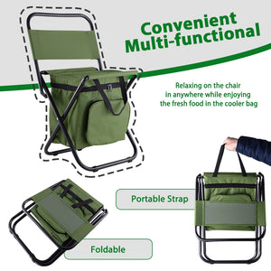 GeerTop Portable Lightweight Folding Chair with Cooler Bag