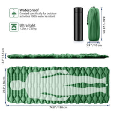 Load image into Gallery viewer, GeerTop Wider Sleeping Pad 66cm