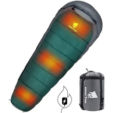 Load image into Gallery viewer, GeerTop Heated Sleeping Bag Safe Warm 4 Season Camping Mummy Sleeping Bags