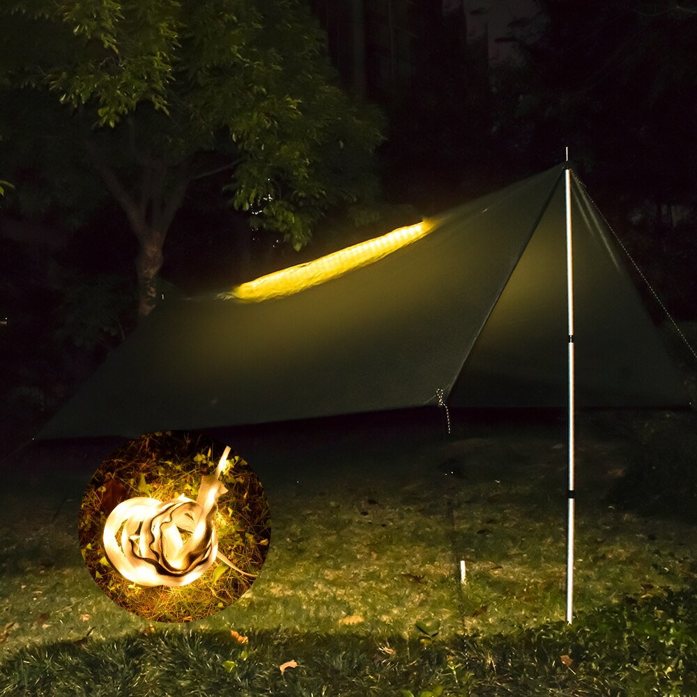 Illuminated  Night Lighted Tent Tarp with LED Strip