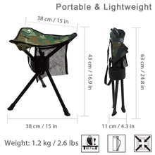 Load image into Gallery viewer, GeerTop Swivel Folding Stool Portable Tripod Chair