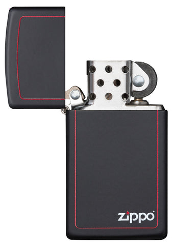 Slim Black Matte with Zippo border