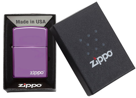 High Polish Purple with Zippo Logo