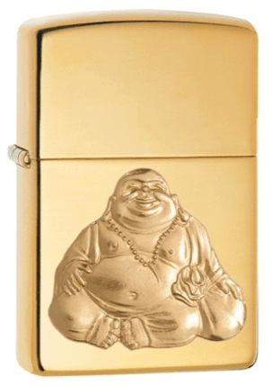 Zippo High Polish Brass Laughing Buddha Emblem  (29626)