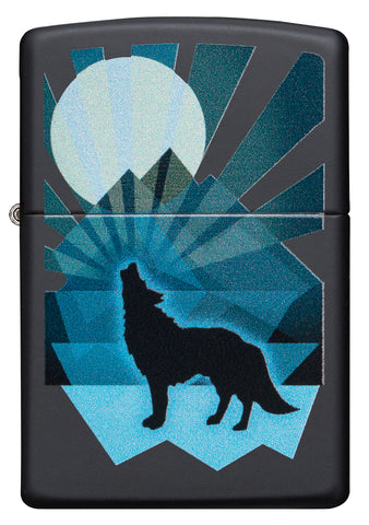 Wolf And Moon Design