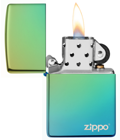 Classic High Polish Teal with Zippo Logo