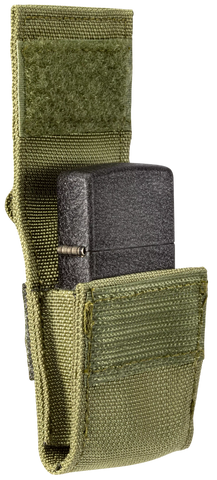 OD Green Pouch and Black Crackle Lighter Gift Set