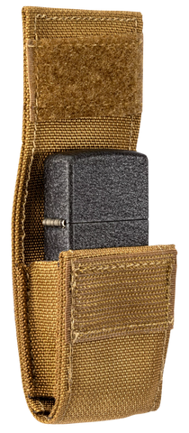 Coyote Pouch and Black Crackle Lighter Gift Set