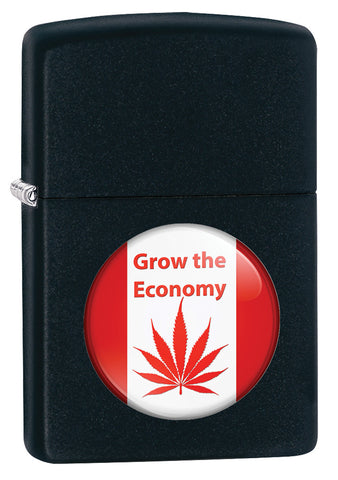 Grow The Economy Leaf Design