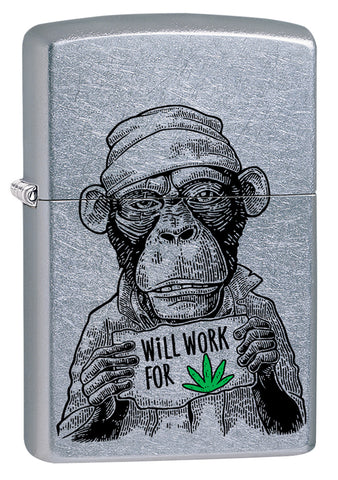 Workin' For Weed Leaf Design Pipe Lighter