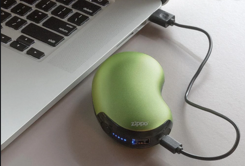 Hand Warmer 6 Hour Green Rechargeable
