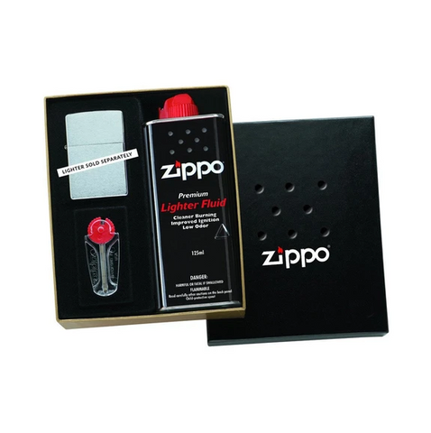 Zippo Classic Gift Set - 4oz Fluid & 6-Flint Dispenser
