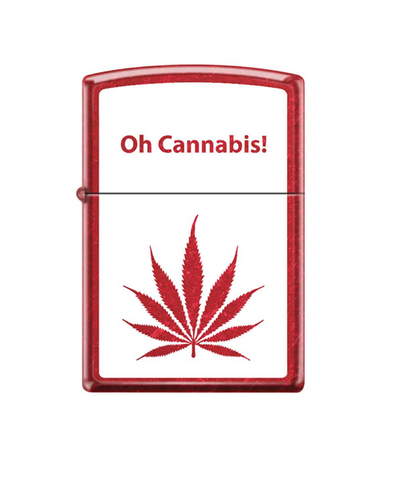 Oh Cannabis Leaf Design