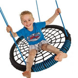 NEST SWING OVAL BLACK/BLUE With ADJUSTABLE PP ROPES (sensory swing)