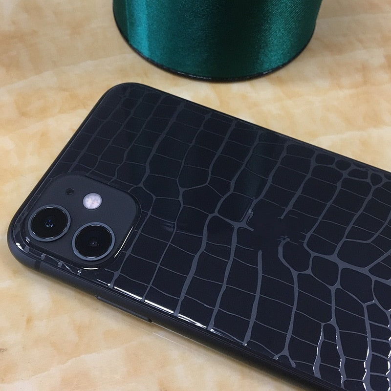 Crocodile Skin Pattern Back Film Protector for IPhone 12 /11 Series