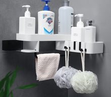 Load image into Gallery viewer, Corner Bath Storage Holder White and Grey