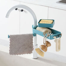 Load image into Gallery viewer, 3 In 1 Rotatable Faucet Rack Blue