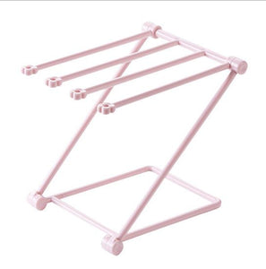 Folding Vertical Towel Rack Pink