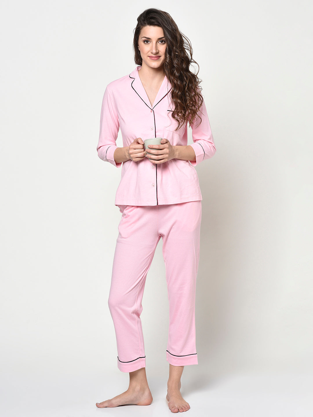 Pink Ladies 2 Pc Comby Night Suit - Avsoy