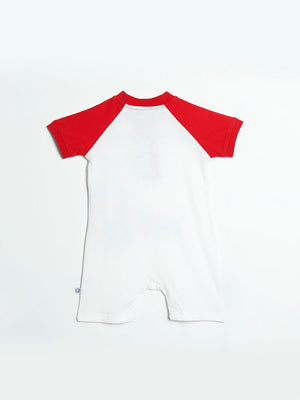 Little Sailor' Lobster Short-Sleeve Henley Romper