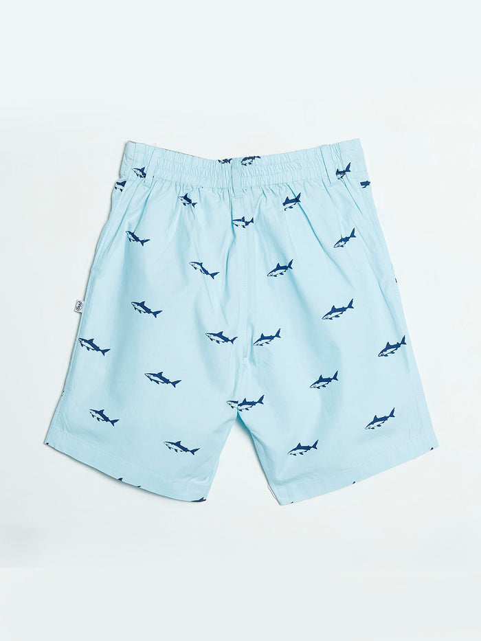 Light Blue Shark Shorts