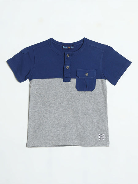Navy and Grey Henley