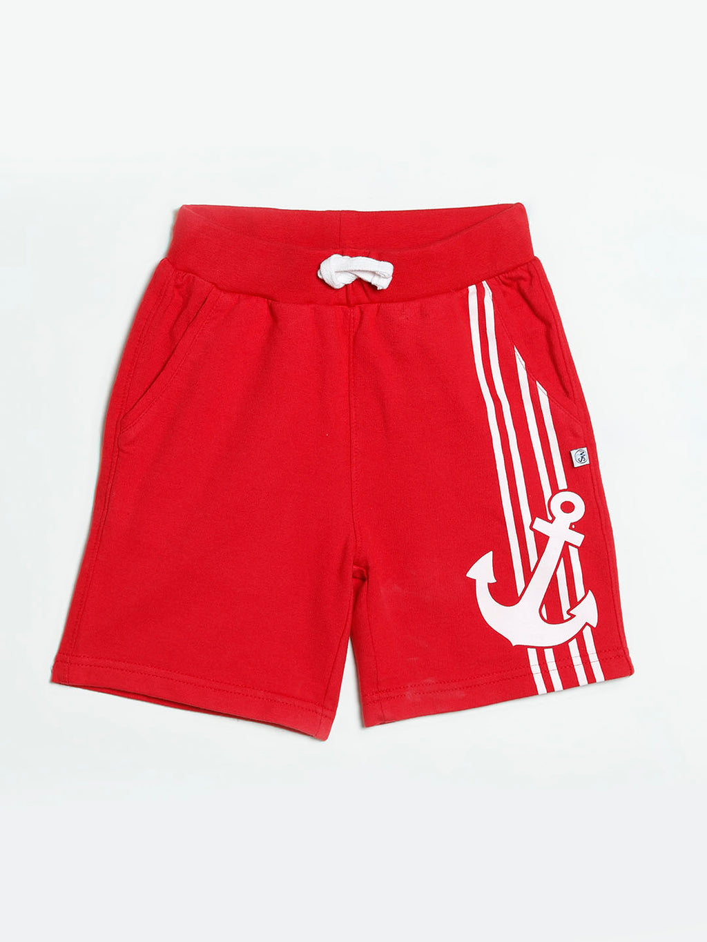 Jersey Shorts With Anchor Print
