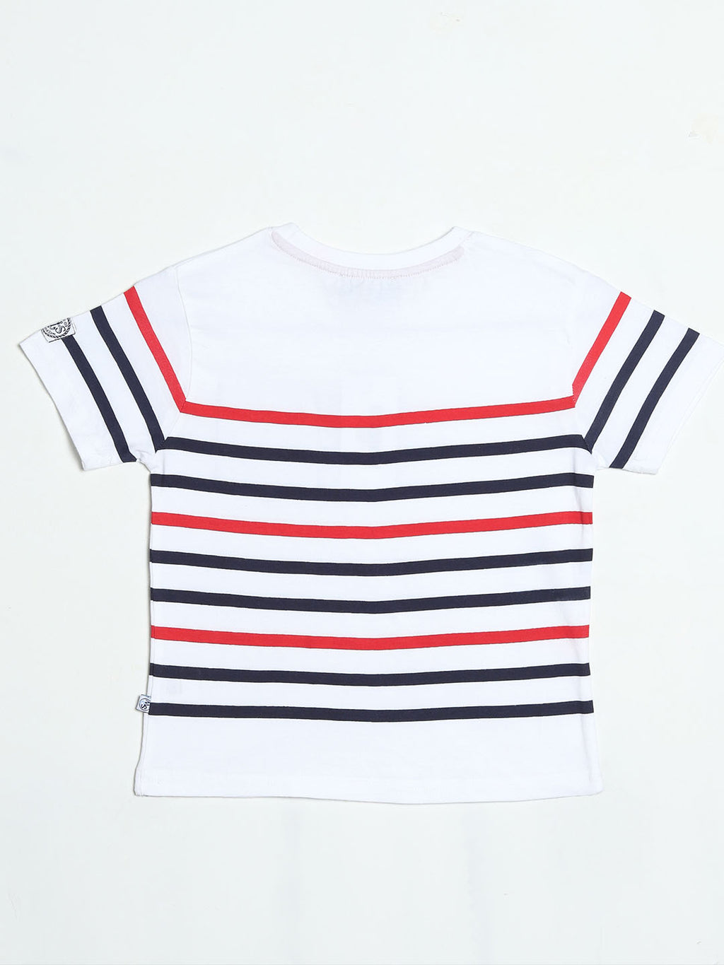 White, Red and Blue Striped T- Shirt