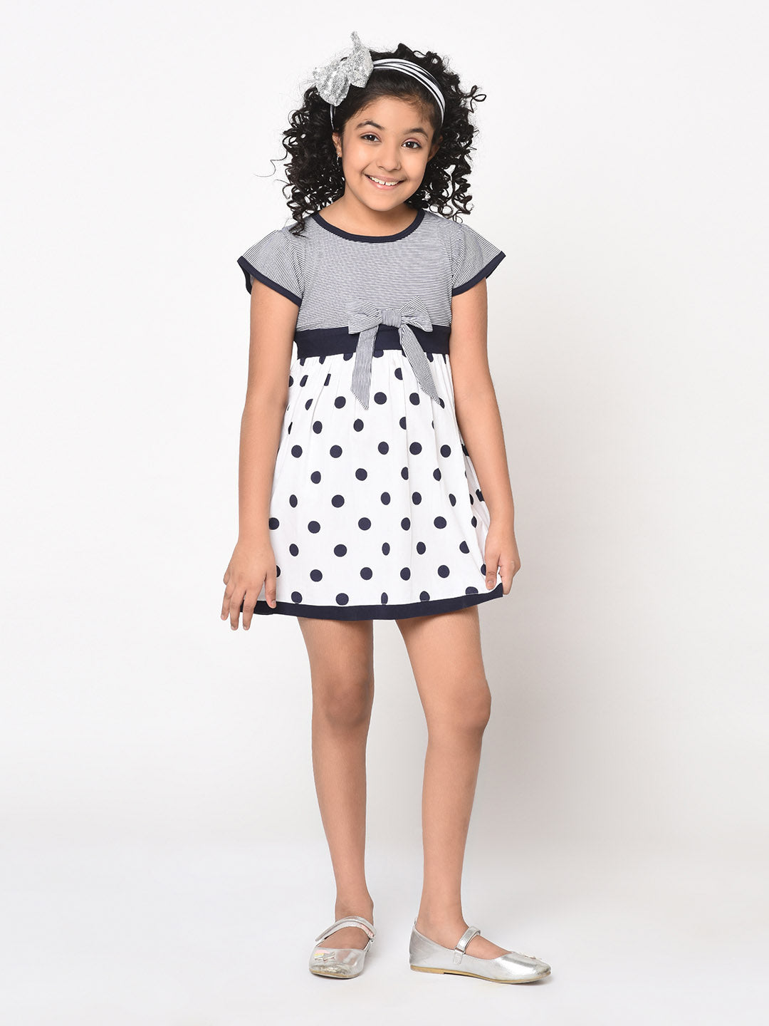 Polka Dot/Stiped Bow Dress