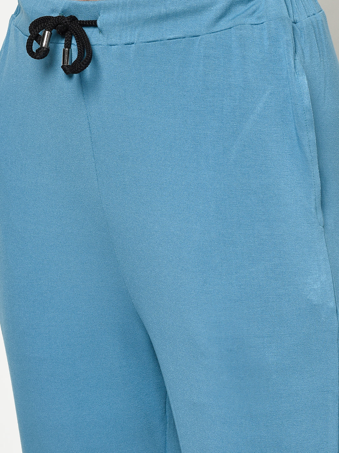 DUSTY BLUE VISCOSE LADIES 2 PC NIGHT SUIT - Avsoy