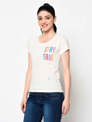 Rainbow Graphic White Tee