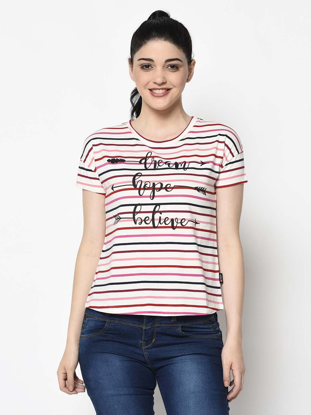 Black Graphic Pastel Pink Tee - Avsoy