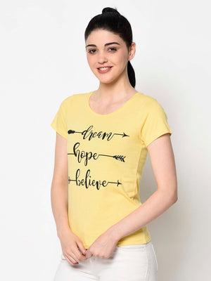 Black Graphic Yellow Tee
