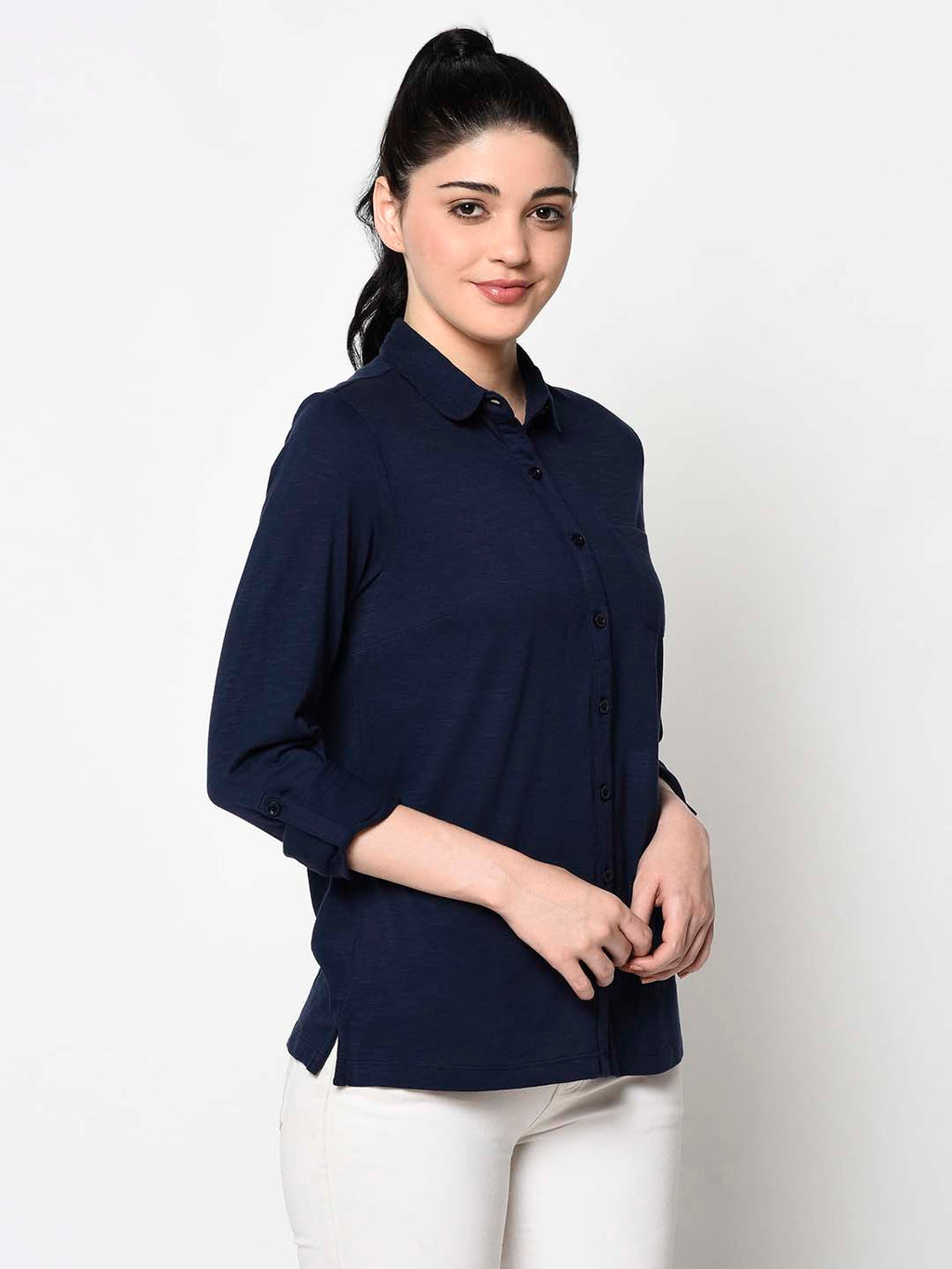 Formal Navy Blue Top