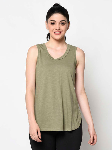 Military Green Tank Top