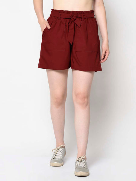 Sangria Red Shorts