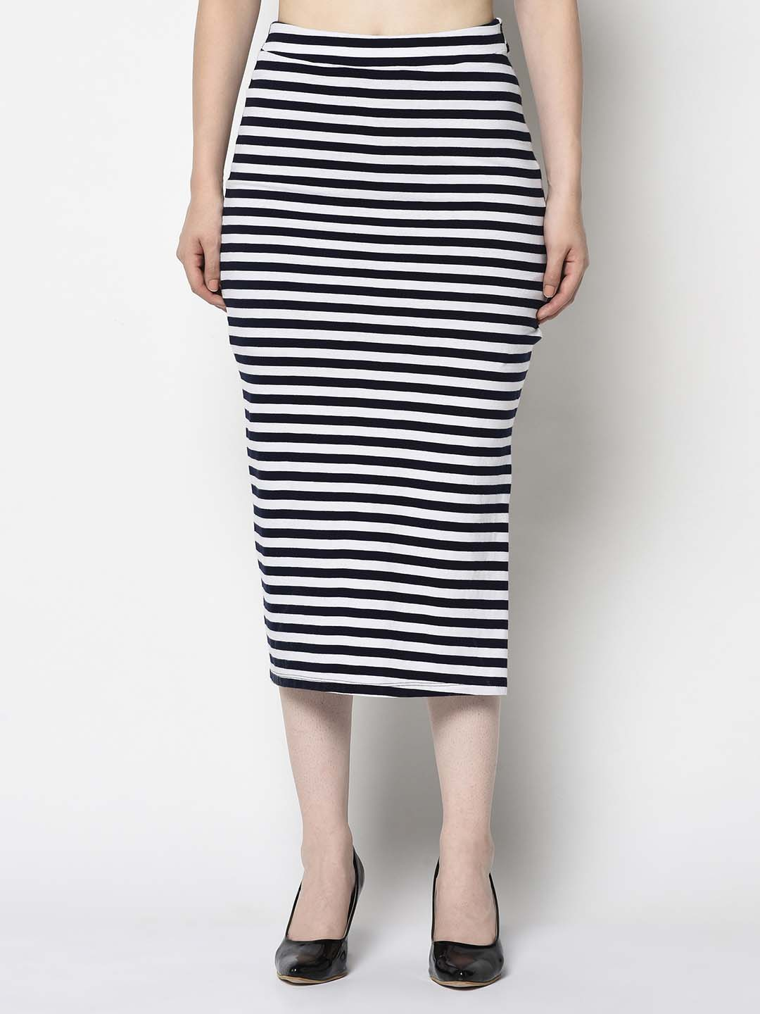 Navy And White Maxi Ballerina Skirt