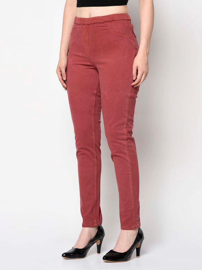 Red High Waisted Pants