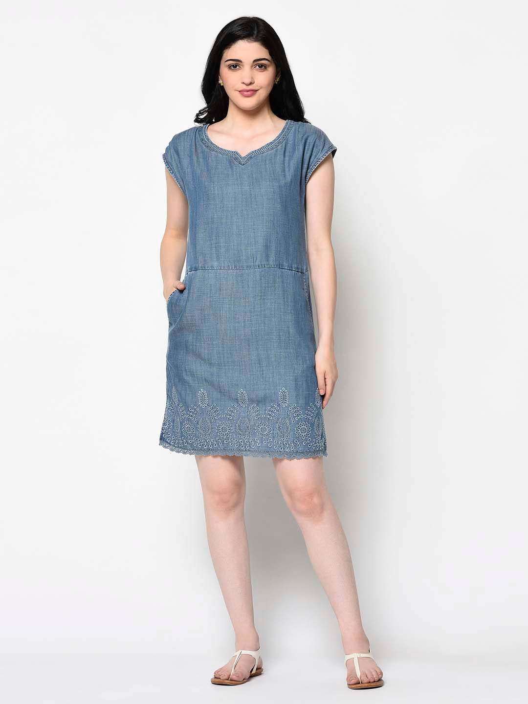 Blue Tunic Dress - Avsoy