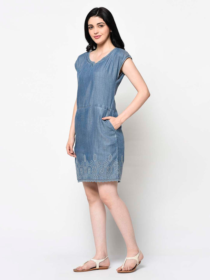 Blue Tunic Dress