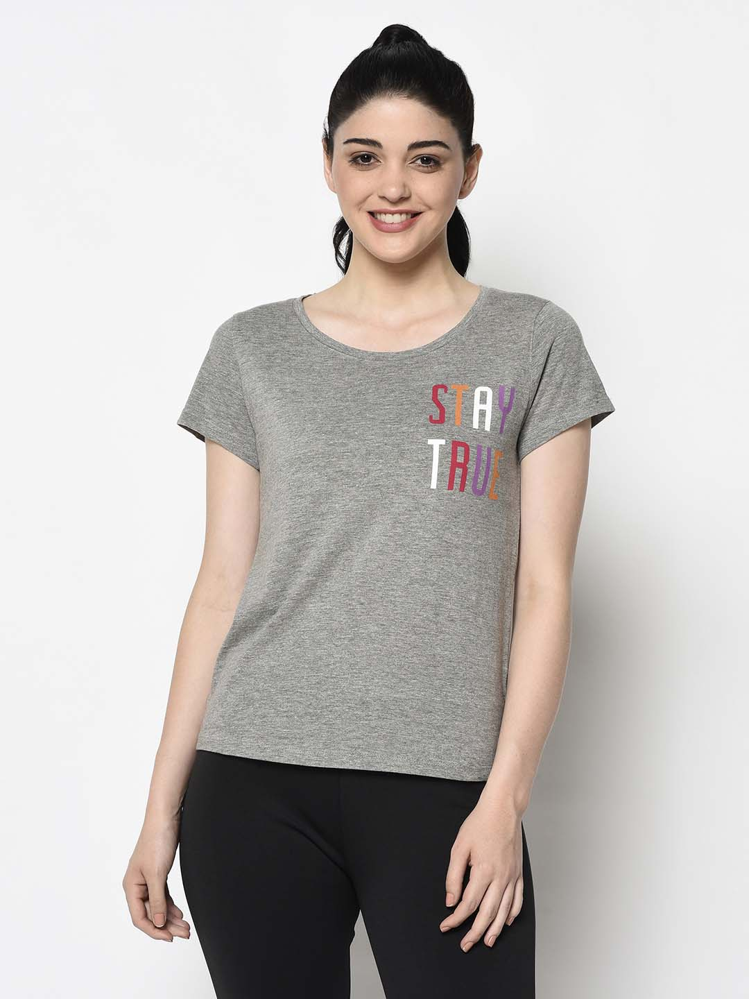 Grey Stay True Tee