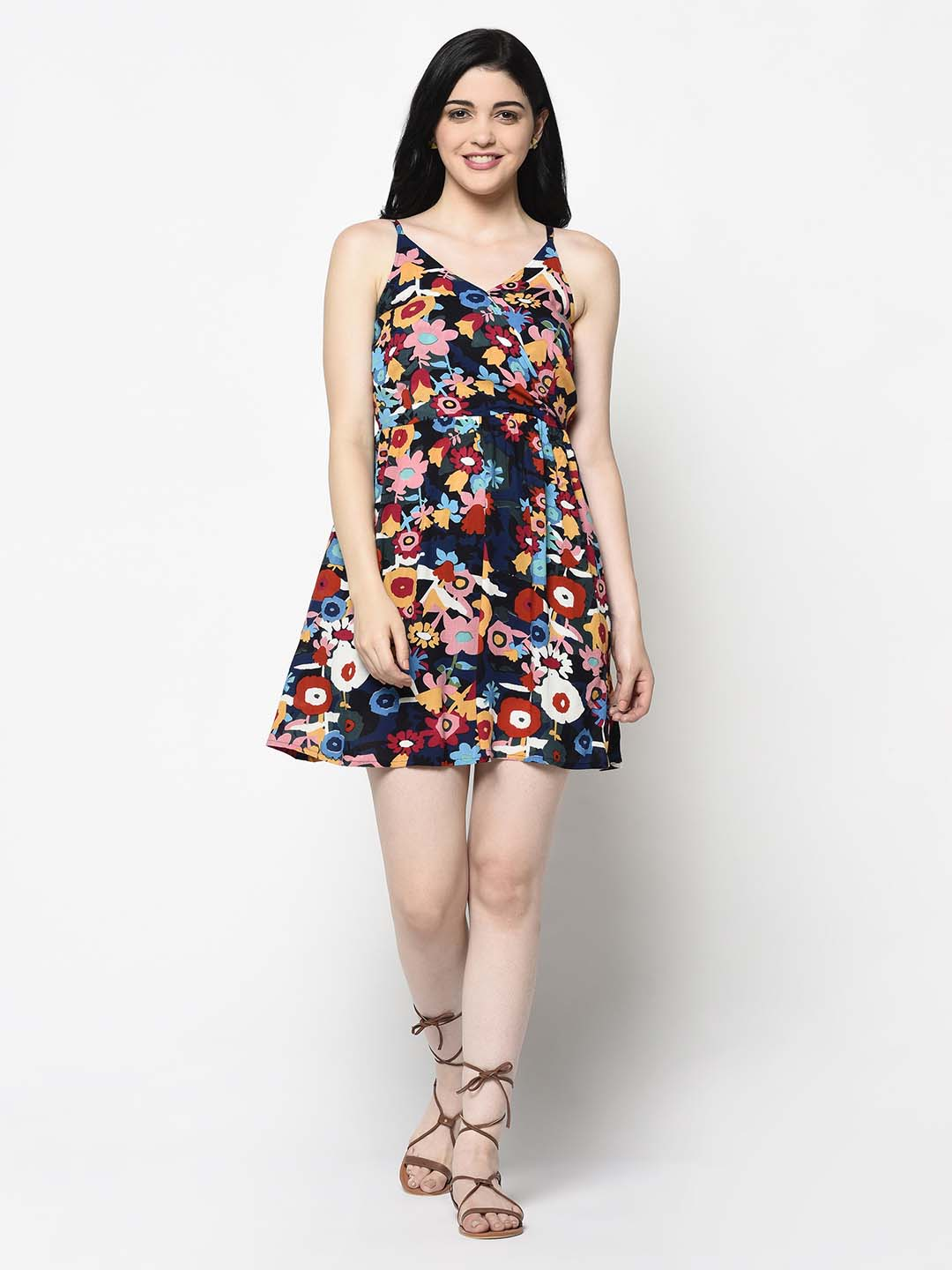 Multicolour Floral Dress - Avsoy