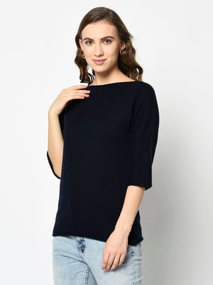 Black Knit Sweater - Avsoy