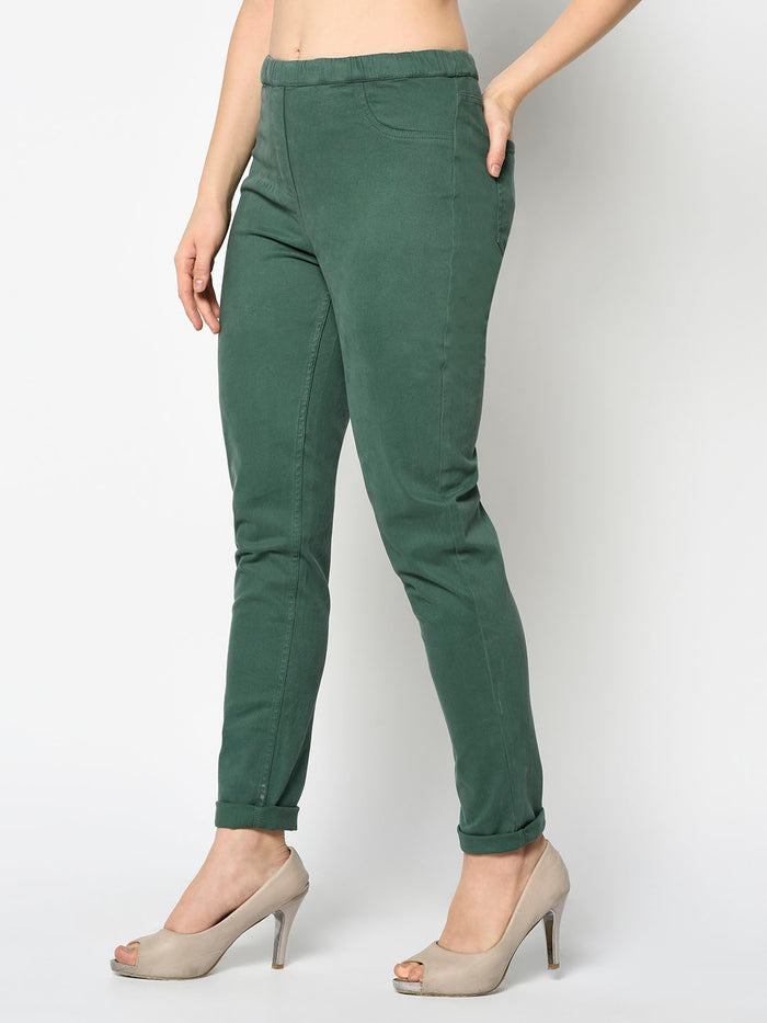 Pine Green Jeggings