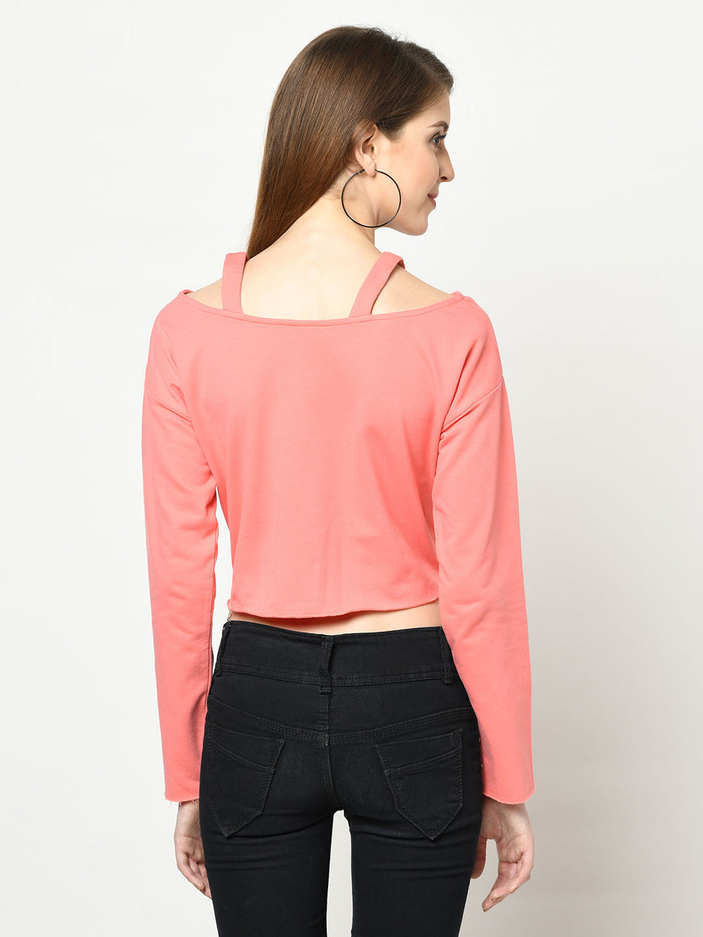 Polished Flamingo Cut-Out V-Neck
