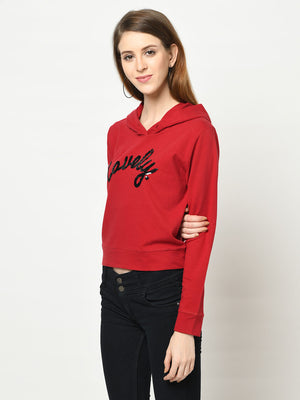 Lovely Red Hoodie - Avsoy