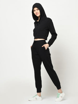 Black Hoodie And Joggers Set - Avsoy